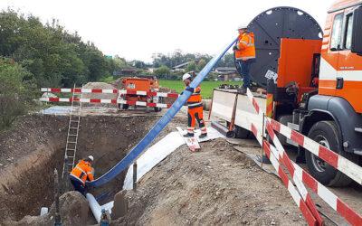 AZ-Trinkwasserleitung in Schweizer Gemeinde Kaiseraugst saniert