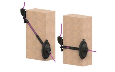 Flexible Lösung: neue Glasfaser-Hauseinführung für jeden Mauertyp