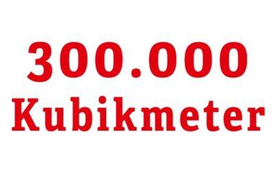 300.000 Kubikmeter Stauraum zum Schutz sauberer Seen