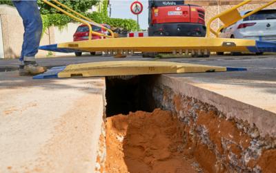 Provisorische Rohrgrabenbrücken bei Leitungserneuerung im Einsatz
