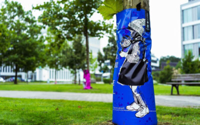 Street-Art-Baumbewässerungssäcke sorgen für mehr Nachhaltigkeit